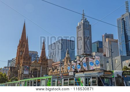 Melbourne buildings in the ceter