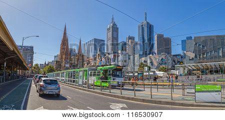 Melbourne Flinders Street tram station