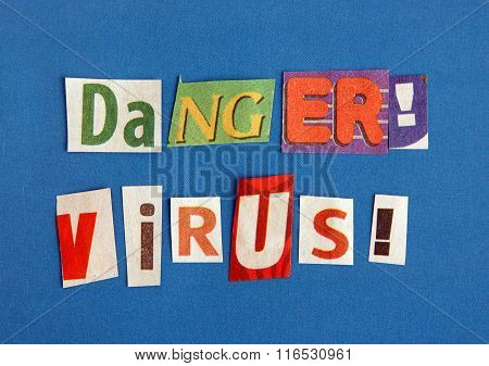 Danger Virus Warning Sign