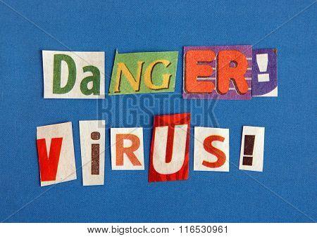 Danger Virus Warning Sign