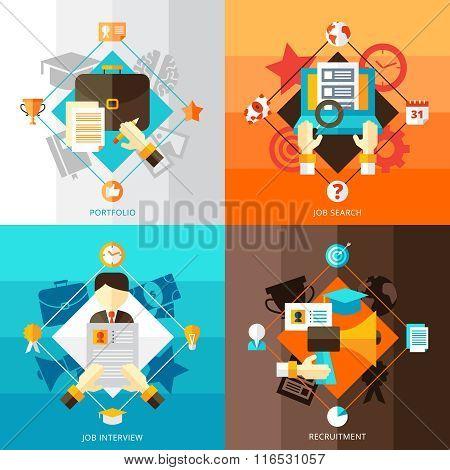Resume 2x2 Design Concept Set