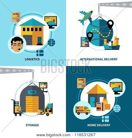Logistics 2x2 Design Concept Set