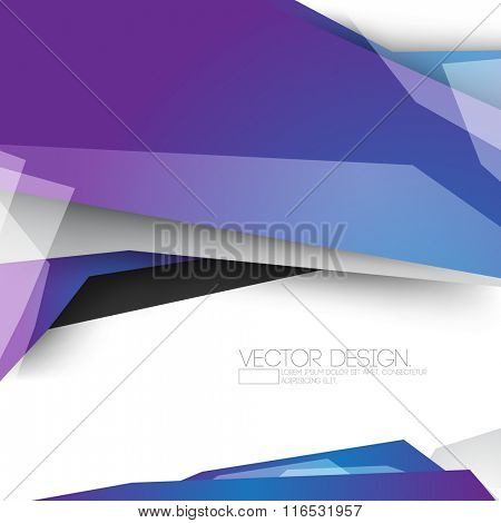 overlapping geometric shaped polygons material corporate business background design
