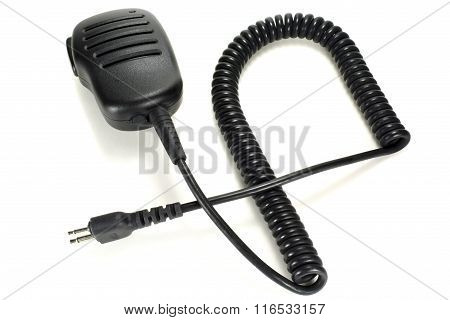 Handheld Microphone For Walkie-talkie Isolated On A White Background