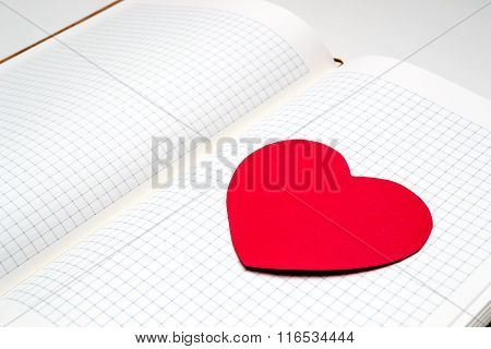 Diary With Paper Heart