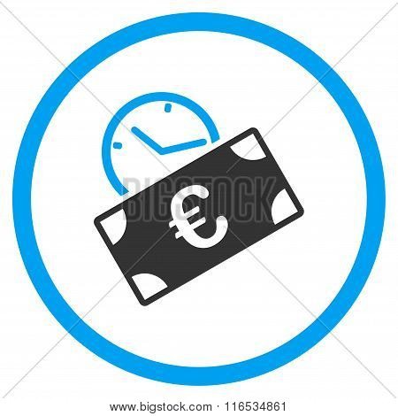 Euro Recurring Payment Rounded Flat Icon