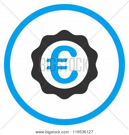 Euro Award Seal Rounded Icon