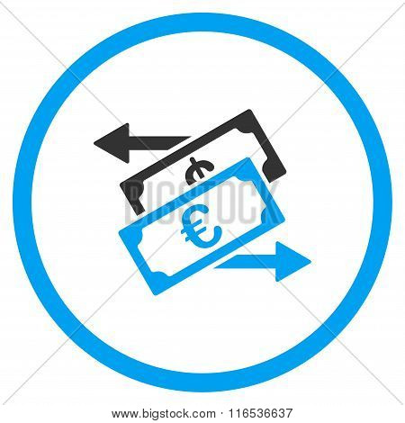 Euro Currency Exchange Rounded Icon