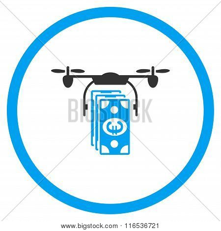 Euro Drone Banking Rounded Icon