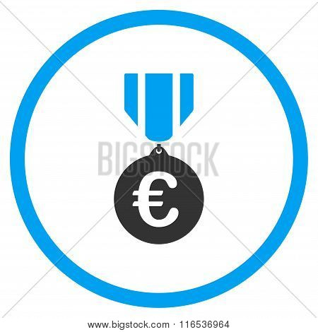 Euro Honor Medal Rounded Icon