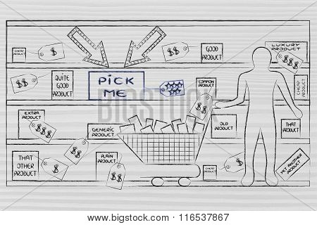 Person In A Store With