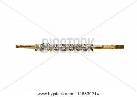 Golden Barrette Isolated