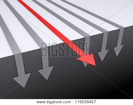 Arrows Fall Down Except One