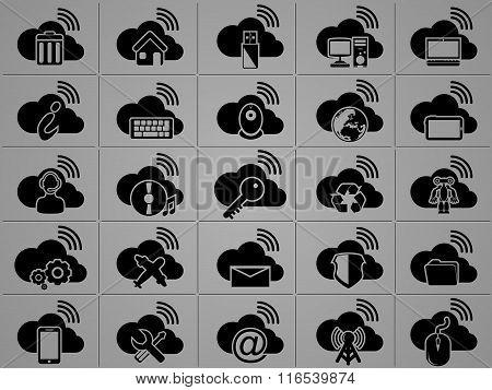 Icons Cloud Computing