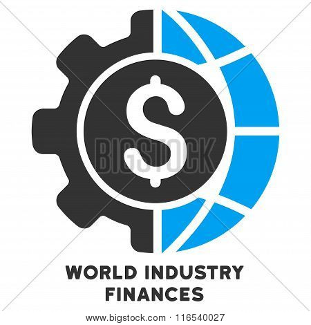 World Industry Finances Vector Icon With Caption
