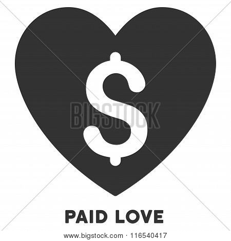 Paid Love Vector Icon With Caption