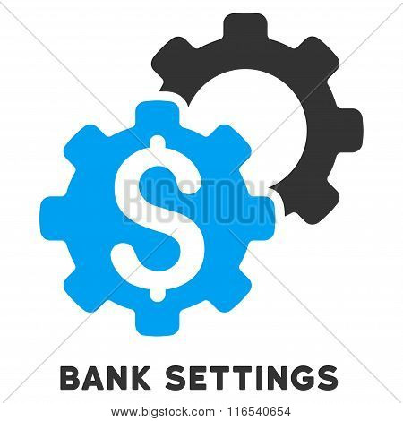 Bank Settings Glyph Icon With Caption