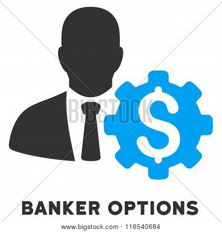 Banker Options Glyph Icon With Caption