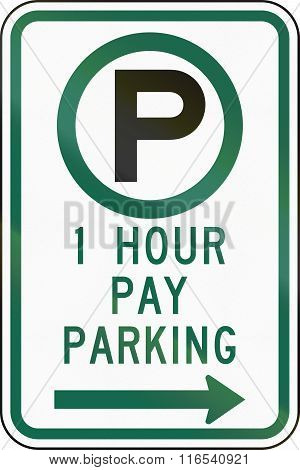 United States Mutcd Regulatory Road Sign - 1 Hour Parking