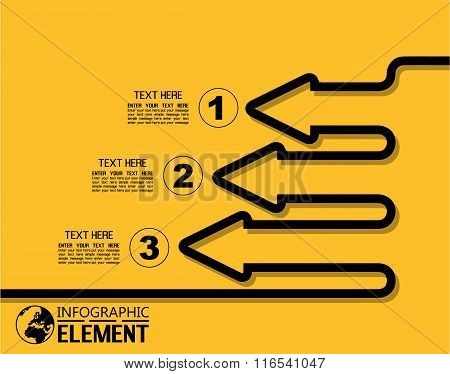 Infographic Simple Template With Steps Parts Options Elements Arrow