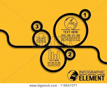 Infographic Simple Template With Steps Parts Options Elements Circle In Sequence