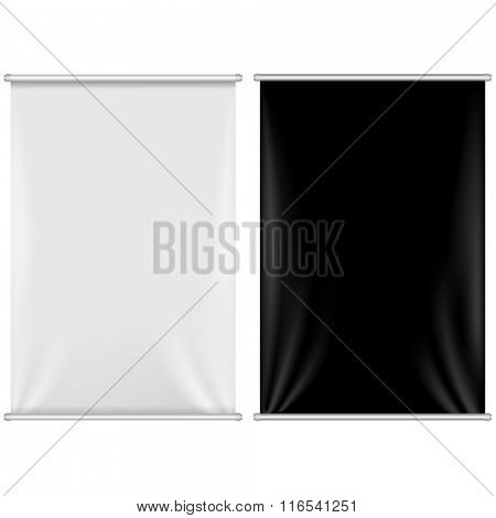 2 Banners Set With Gradient Mesh, Vector Illustration