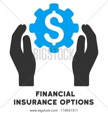 Financial Insurance Options Glyph Icon With Caption
