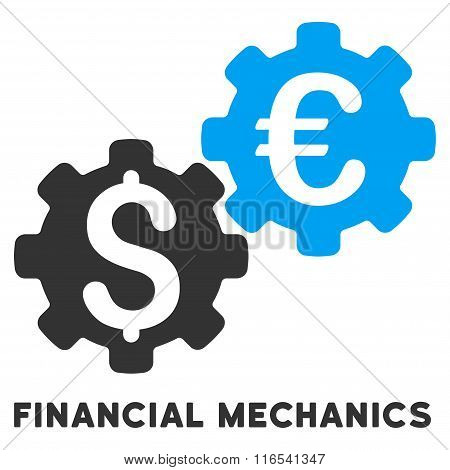 Financial Mechanics Glyph Icon With Caption