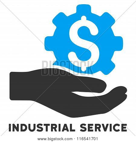 Industrial Service Glyph Icon With Caption