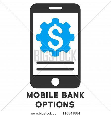 Mobile Bank Options Glyph Icon With Caption