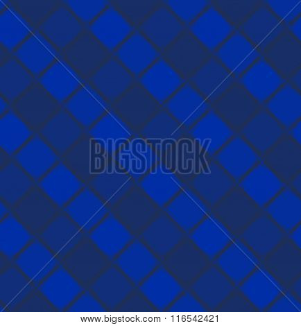 Abstract Blue Geometric Pattern From Rhombus