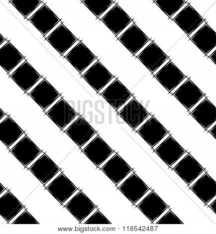 Seamless Pattern With Black Rhombus.