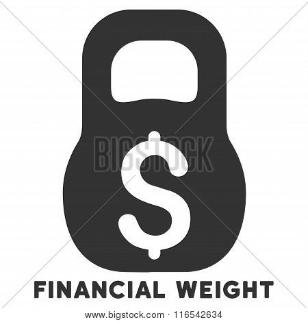 Financial Weight Glyph Icon With Caption