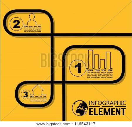 Infographic Simple Template With Steps Parts Options Element