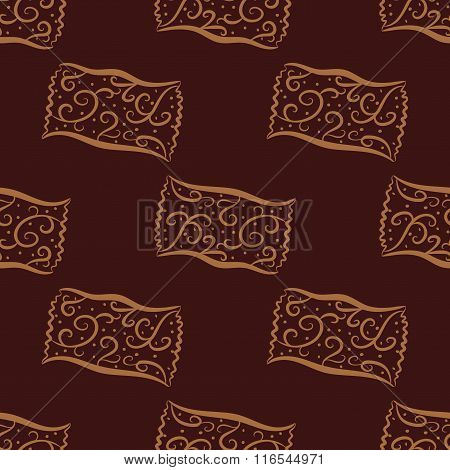 Seamless pattern from hand drawn curl candies