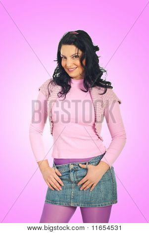 Casual Woman In Pink