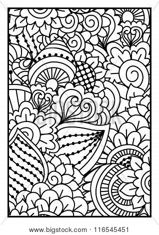 Black and white pattern.
