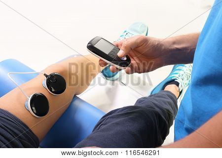 Muscle electrostimulation, treatment and rehabilitation