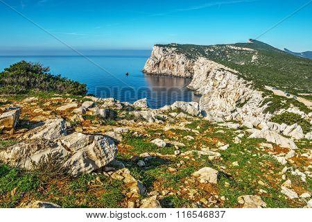 Capo Caccia Shoreline On A Clear Day