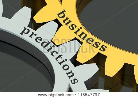 Business Predictions Concept On The Gearwheels