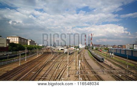 Railway In City