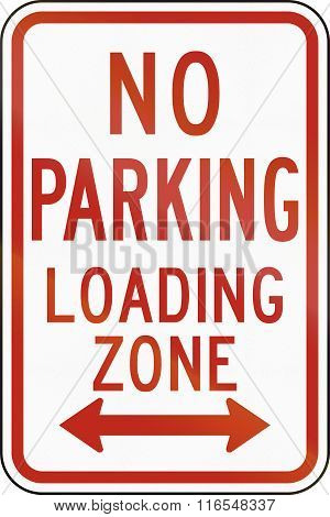 United States Mutcd Regulatory Road Sign - No Parking