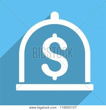 Dollar Deposit Long Shadow Square Icon
