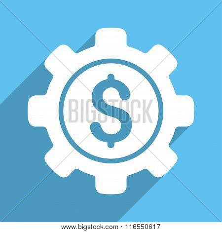Financial Options Long Shadow Square Icon