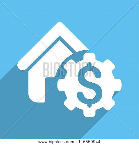 House Rent Options Long Shadow Square Icon