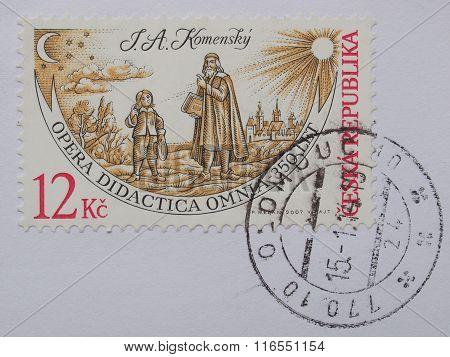 Jan Amos Komensky On A Czech Stamp