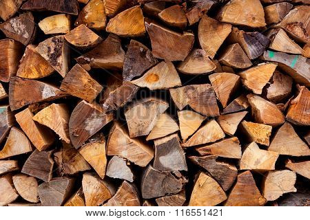 firewood store - abstract natural background