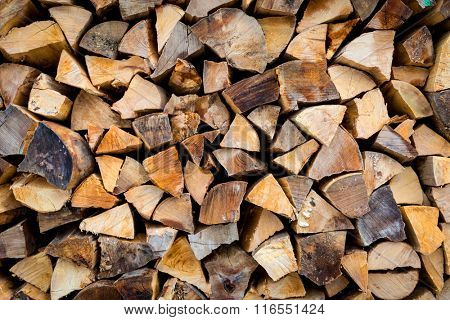 Abstract background with firewood wall