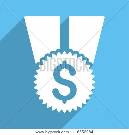 Financial Medal Long Shadow Square Icon