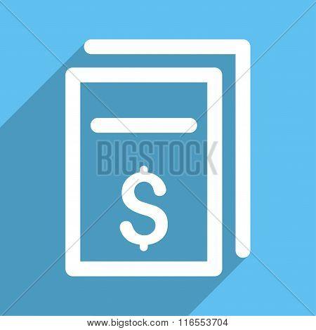 Price Copy Long Shadow Square Icon